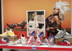 @aussieslovetay: Keds display at @Grumpy Snob Shoes in Australia!!!