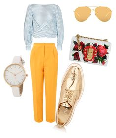 """Untitled #25"" by imani-ciera on Polyvore featuring Johanna Ortiz, Topshop, Prada, Dolce&Gabbana and Linda Farrow"