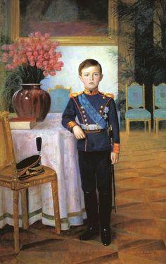 Portrait of Tsarevich Alexei Nikolaevich Romanov 1911