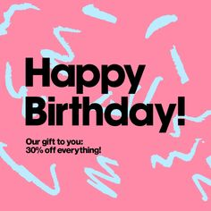 Birthday Email, Happy Birthday, Email Layout, Motion Images, Newsletter Design, Email Design, Edm, American Apparel, Layouts
