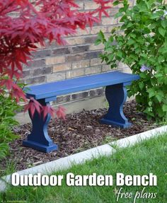 Cute little outdoor garden bench, only costs about $13 to build and uses one 1x12 board. Free plans
