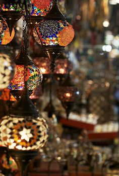 What do you think of these? Too ordinary? Turkish Mosaic Lamps