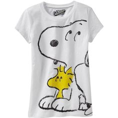 Old Navy Girls Snoopy & Woodstockï Tee Shirt ❤ liked on Polyvore