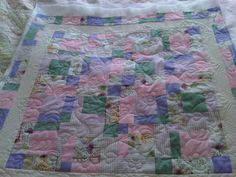 Hearts and Flowers - just quilted this for Val.