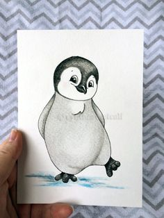 This baby Emperor Penguin is a bit shy but would love to be part of your babys nursery. This original drawing would be perfect in a gender neutral nursery, ocean nursery, gray nursery, or Ocean Nursery and will be treasured by all.  This is an original drawing created by me. I used professional ink, pastels, and colored pencils on 90 lbs, acid-free, watercolor paper (slightly textured).  Each work of art is made to order. This is NOT a print. I will recreate the pictured work of art with…