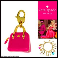 "KATE SPADE Jewerly Charm HANDBAG 💟 NEW WITH TAGS 💟 ***Genuine Kate Spade item w/original packaging & attached retail tag for gift giving***                           KATE SPADE Bracelet, Handbag, Jewerly Charm   * Adorable mini handbag charm  * Gold-tone hardware w/signature Kate Spade logo  * About 1 1/4"" drop & 3/8""-3/4""W  * Lobster clasp closure Fabric: 12K gold plate, glass, & enamel Color: Vivid pink Item:KS9220 # pastel statement 🚫No Trades🚫 ✅Offers Considered*✅  *Please use the…"