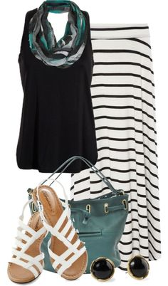 """""""Maxi Skirt"""" by colierollers on Polyvore"""