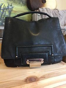 KOOBA Smooth Black Leather JUDE Top Handle Satchel Shoulder Bag $378    eBay