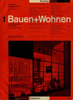 Bauehn+Wohnen magazine. Richard Paul Lohse (1952).