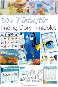 Keep the kids busy for ages! Over 30 free Finding Dory printables including colouring pages, word searches, mazes, fact sheets, bingo and loads more.