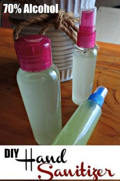 Home Made Hand Sanitizer, Natural Hand Sanitizer, Solution Hydro-alcoolique, Natural Disinfectant, Hand Care, Vegetable Glycerin, Rubbing Alcohol, Diy Cleaning Products, Cleaning Diy