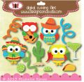 Designs on Cloud 9 Fiesta Owls SVG and cutting files
