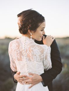 bridal separates from BHLDN | esther sun photography | image via: style me pretty | #BHLDNbride