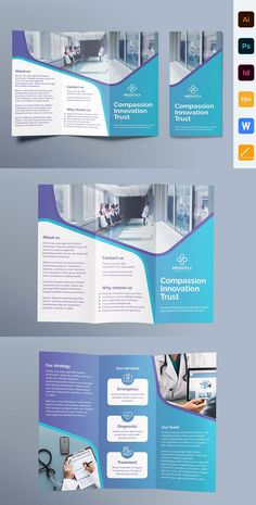Trifold brochure template is perfect for business and corporate purposes. This package contains clean, modern and high-quality trifold brochure templa. Poster Sport, Poster Cars, Dm Poster, Design Poster, Brochure Indesign, Template Brochure, Brochure Layout, Indesign Templates, Brochure Trifold