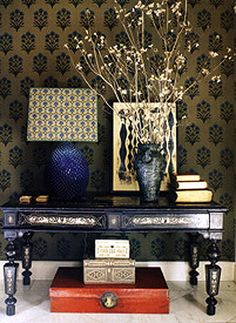 .beautiful eclectic entry way decor