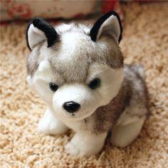 131486d7e Kawaii 18/22/28 CM Simulace Husky Pes plyšové hračky Dárkové pro děti Baby