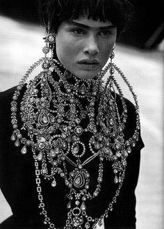 Tanga Moreau by Peter Lindbergh for Vogue Italia Sep 1997