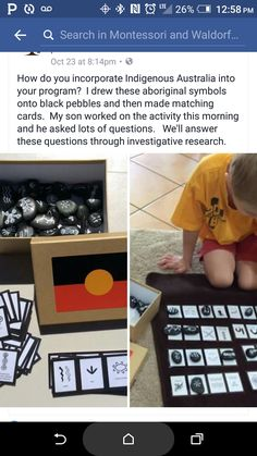 Great Australia idea Aboriginal Symbols, Aboriginal History, Aboriginal Culture, Preschool Rooms, Preschool Crafts, Preschool Displays, Naidoc Week, Play Based Learning, Matching Cards