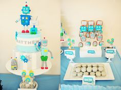 child birthday robot theme | Micro Chip Guest Dessert Feature « SWEET DESIGNS – AMY ATLAS EVENTS