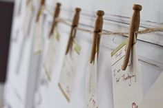 Wooden clothes pins, great for a farmers market themed party!