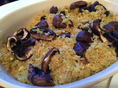 Mushroom fried rice with celery!