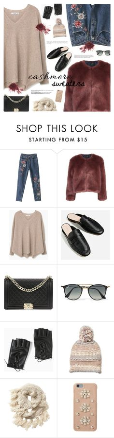 """""""#cashmere"""" by giulls1 ❤ liked on Polyvore featuring Stine Goya, MANGO, Belgique, Chanel, Balmain, Ray-Ban, Torrid, Steve Madden, Athleta and MICHAEL Michael Kors"""