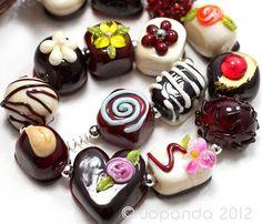 JOPANDA lampwork Beads handmade SRA   Chocolate in a Box *Spring Edition* (15)