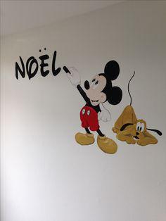 Mickey mouse betaalbare muurschildering van joan of arts