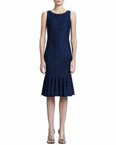 St. John Collection Donegal Tweed Knit Fitted Jacket and Sheath Dress - Neiman Marcus