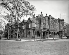 "Circa 1908. ""Castle Inn at Buffalo, New York."" The former residence of Millard Fillmore."
