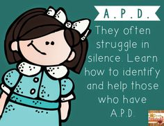 In this post, I share my family's struggles with Auditory Processing Disorder and how teachers can identify and help students with A.P.D. - Jenn @ 2nd Grade Snickerdoodles