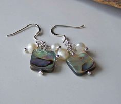 Etsy Jewelry Etsy Beaded Earrings Abalone Shell by maggiescorner, $14.50
