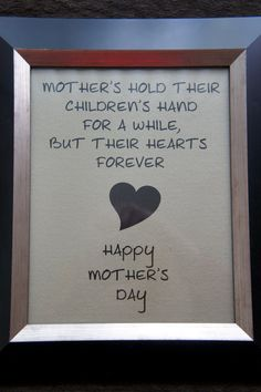 Great mother's day gift.  Mother's Day Canvas Card  Canvas Board  8x10 by nlcorder on Etsy, $14.99