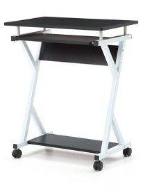 Nice size and nice price -- w/ sliding shelf for keyboard & casters for easy moving --  Hodedah Import Computer Desk Black #affiliate
