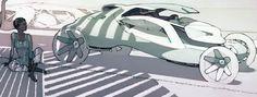 保时捷设计师Felix Godard手绘作品-greendesign