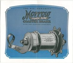 Morrow Coaster Brake  made in Elmira, NY by Eclipse Machine Co.  catalog page