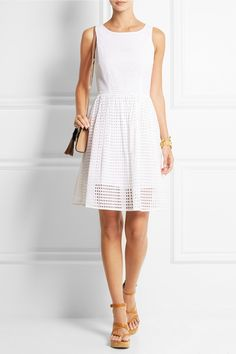 MICHAEL Michael Kors Broderie anglaise cotton dress NET-A-PORTER.COM