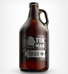 Tin Man Brewing growler designed by Melodic Virtue.