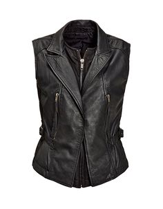 Leather vest from Diesel, Leather Vest, Head To Toe, Dress Making, Work Wear, Sportswear, Dressing, Black And White, How To Wear