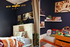Cozy reading nook and other boy's bedroom decor ideas