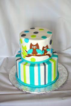 Morgan's Cakes: Owl Baby Shower Cake