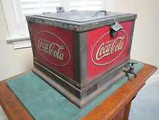 VINTAGE COCA COLA COOLER COUNTER TOP ANTIQUE ADVERTISING  RARE INVESTMENT GRADE