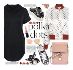 So Dotty: Polka Dots by beebeely-look on Polyvore featuring Ganni, Marc Jacobs, Anastasia Beverly Hills, MAC Cosmetics, Vitra, casual, PolkaDots, casualoutfit, sammydress and bomberjackets