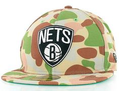 Custom Brooklyn Nets Pacific Camo 59Fifty Fitted Cap By NBA x NEW ERA