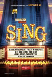 30 best movies coming out this fall and winter  -    Sing:  2016  -  NR  -    A koala named Buster recruits his best friend to help him drum up business for his theater by hosting a singing competition.  -      Director: Garth Jennings  -  Writer: Garth Jennings  -   Stars: Scarlett Johansson, Matthew McConaughey, Peter Serafinowicz  -  ANIMATION / COMEDY / FAMILY   -  Release date:  December 21, 2016