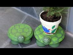 Terracotta Clay Pot Turtles An Easy Video Tutorial | The WHOot