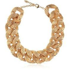 Brass necklace Balmain