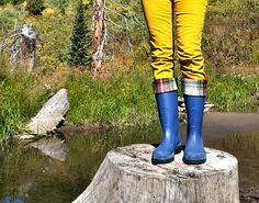 Rain Boot Liners Tutorial...made from fleece to help your boots be warmer and more comfortable