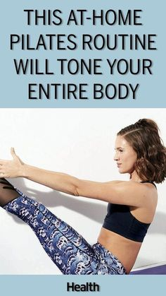 Into pilates for a toned, tight look? Try this at-home pilates routine, featuring the best pilates move for a toned body.
