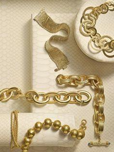 Joyas en oro, Gold jewelry modern design.